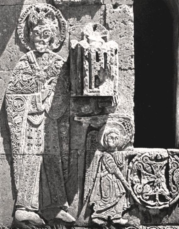 Relief on the west facade