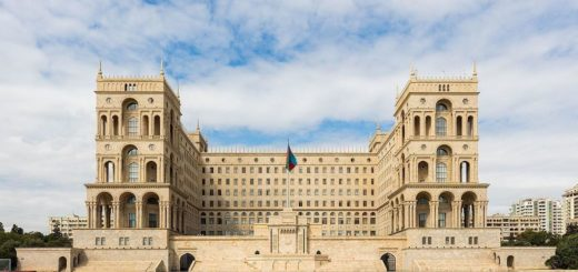 The government building in the capital Baku