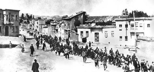 Armenians escorted by Turkish military