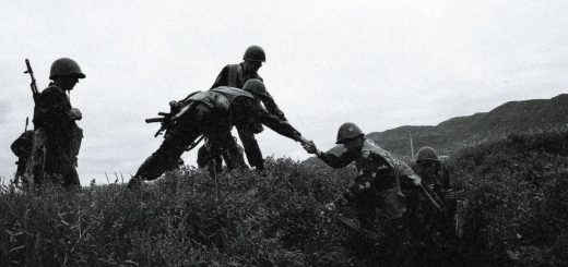 Armenian soldiers during the Nagorno-Karabakh War