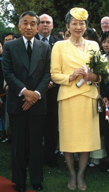 Emperor Akihito and his wife Michiko Shoda