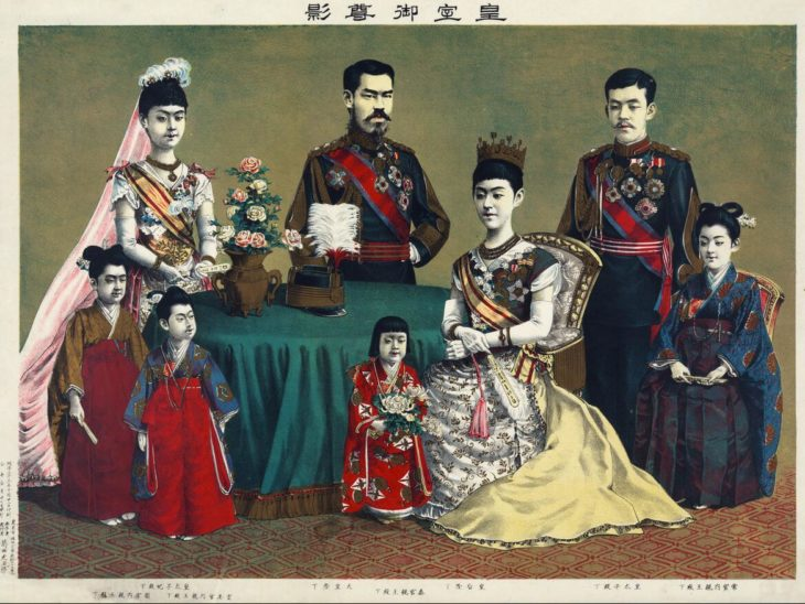 The Meiji Emperor of Japan and the Emperor Family, by Torajirō Kasai