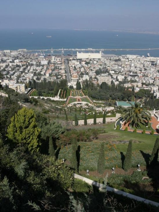 Israel. The city of Haifa north of the country is one of Israel's most important port cities.