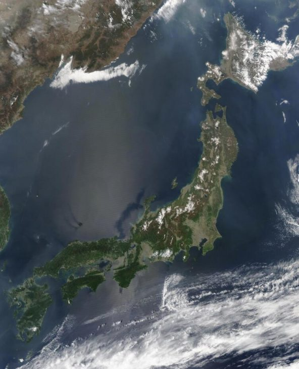 Satellite image of Japan from 2003