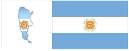 Argentina Flag and Map