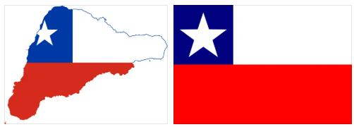 Chile Flag and Map