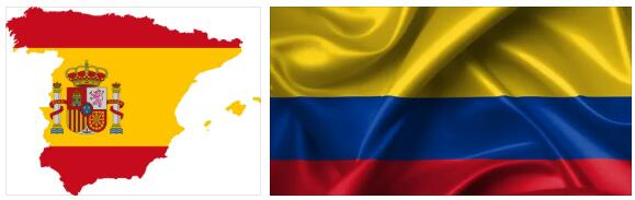Colombia Flag and Map
