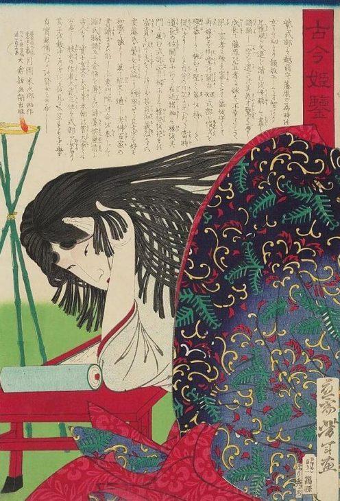 Shikibu Murasaki, 1876 painting