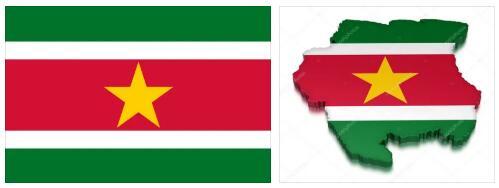 Suriname Flag and Map