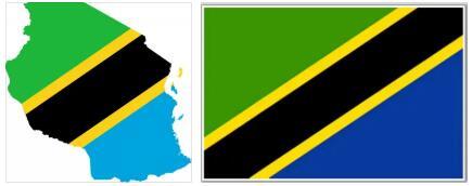 Tanzania Flag and Map