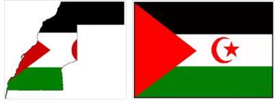 Western Sahara Flag and Map