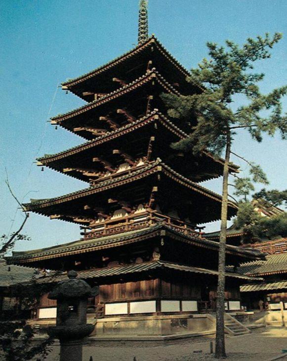 Pagoda in the Horyuji temple complex