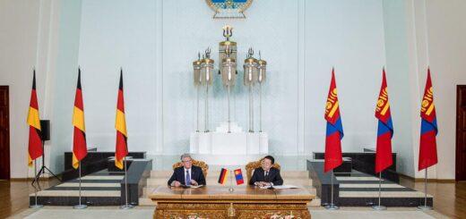 Federal President J. Gauck and President Ts. Elbegdorj in Ulaanbaatar