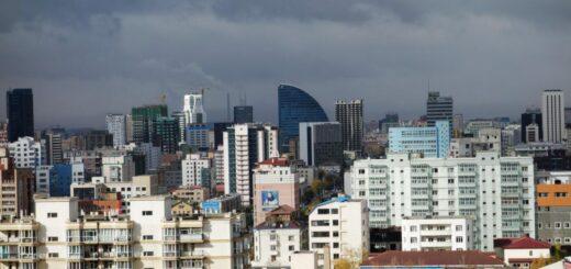 Housing construction in the Mongolian capital