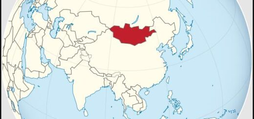 Location of Mongolia