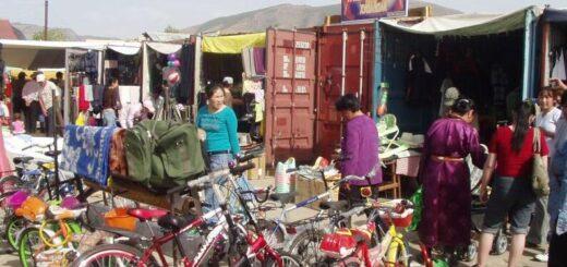 Market in Uliastai Mongolia