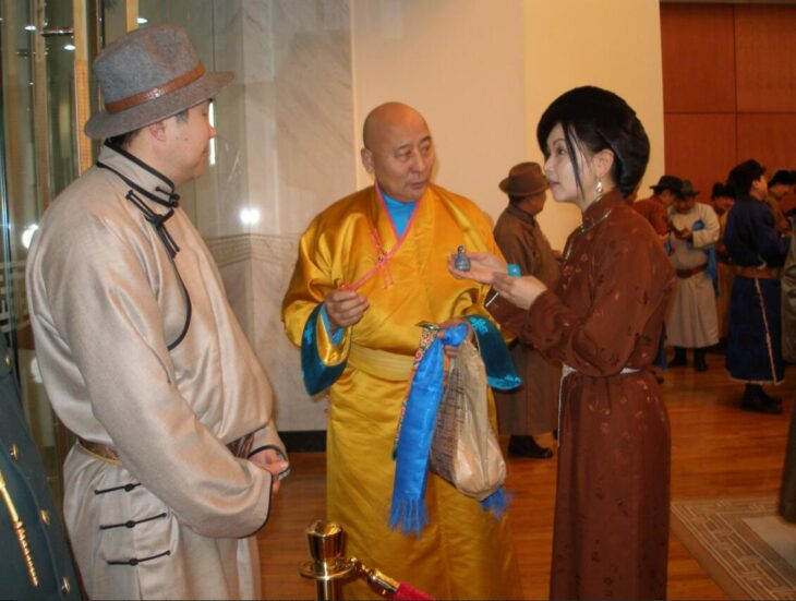 New year's reception in the government palace in Ulaanbaatar