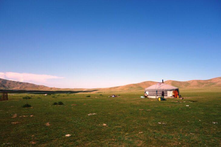 Cattle farmer's household in Ar Modny Denj near Kharkhorin Mongolia