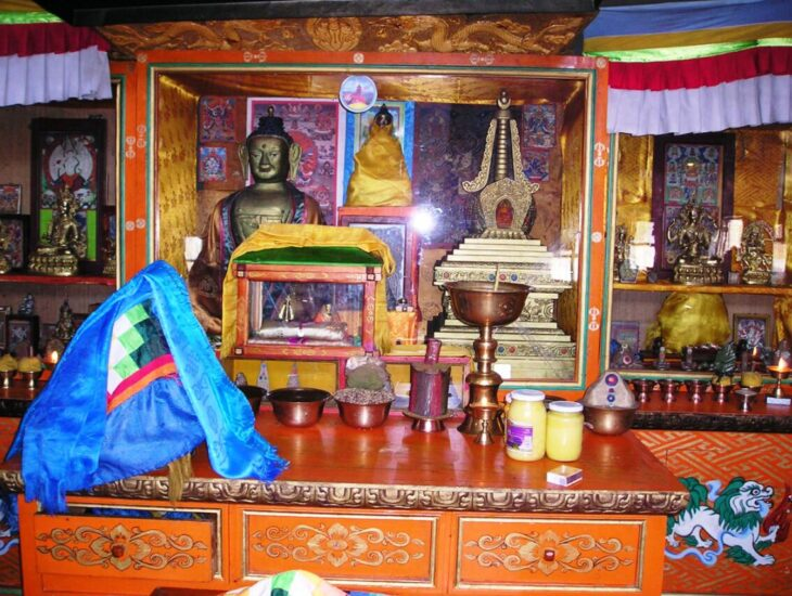 Lamaist temple in Khuvsgul-Aimag Mongolia