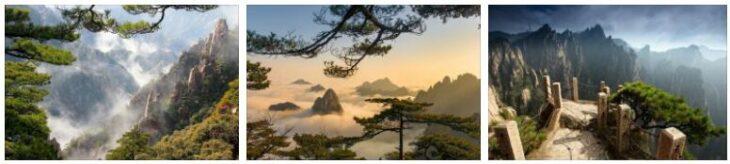Huang Shan Mountain Landscape